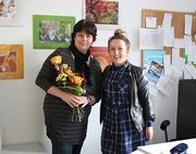 Frau Seidler (links im Bild) und Frau Gerisch, Projektleiterin (rechts im Bild)